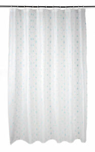 Image Is Loading Beldray 180x180cm White PEVA Raindrops Shower Curtain With