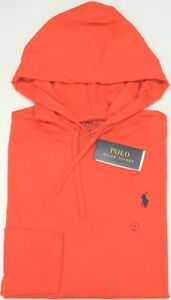 NEW-55-Polo-Ralph-Lauren-Hoodie-Red-Long-Sleeve-Hooded-Tee-Shirt-Mens-NWT
