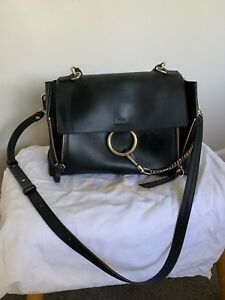 1183af34f4 Image is loading CHLOE-Faye-Day-large-leather-shoulder-bag