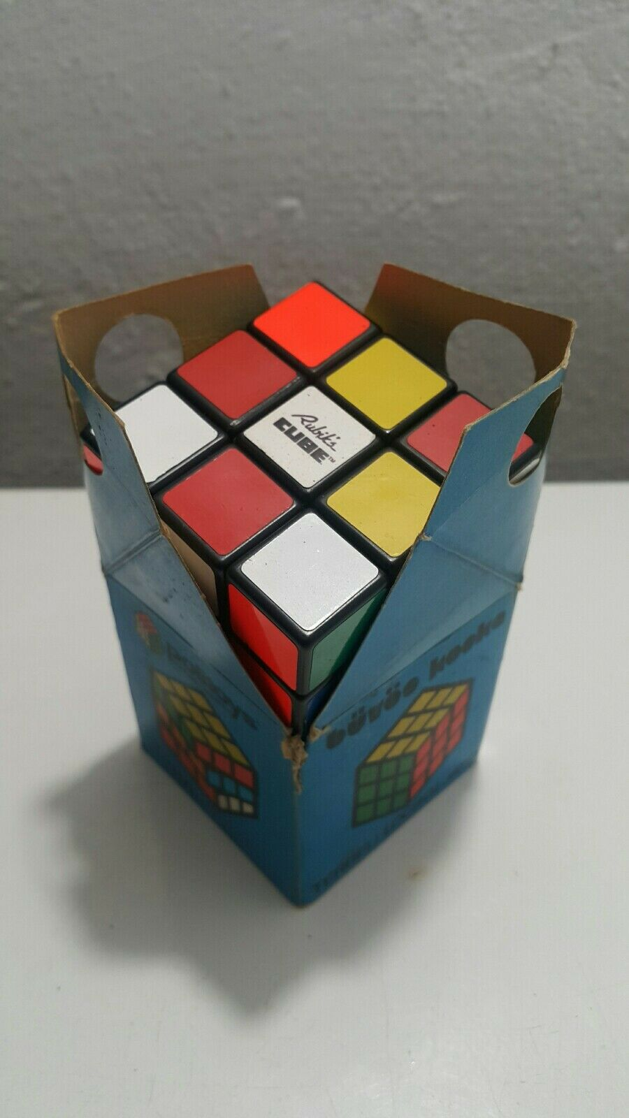 VINTAGE RUBIK'S CUBE Akademia boîte d'origine Budapest Hongrie tordu Puzzle