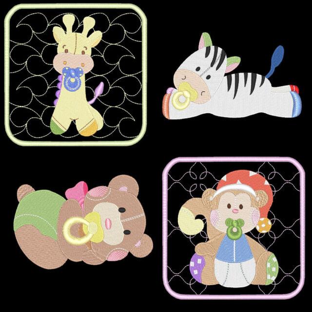 BABY BUDDIES 1 - 60 MACHINE EMBROIDERY DESIGNS (AZEB)