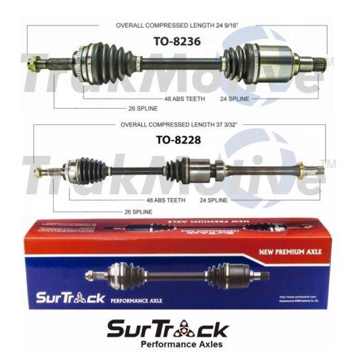 For Toyota Corolla XRS Matrix 2.4L 09-12 FWD 2 Front CV Axle Shafts SurTrack Set