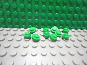 Lego 10 Lime Green 1x1 round brick block NEW