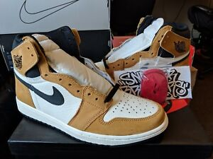 bce3dac5840 Nike Air Jordan Retro I 1 High OG ROY Rookie of the Year Golden ...