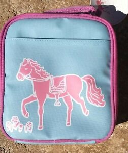 Pottery Barn Kids My First Lunch Bag Aqua Horse Pony