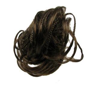 Scrunchie-Hair-Extension-Bun-Rusk-Hairpiece-Synthetic-Elastic-Golden-Brown