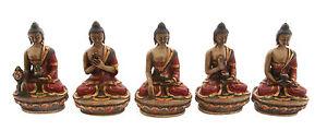5-Statue-Tibetano-Dei-Dhyani-Budda-IN-di-Resina-Dipinto-Fatto-Mano-Tibet-9395
