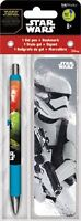 STAR WARS - THE FORCE AWAKENS - GEL PEN & BOOKMARK - BRAND NEW - MOVIE 3571