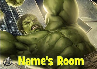 Hulk Personalizzata Placca Porta - 3 Tipi Di Acrilico/laminato/legno-te/wooden It-it Fresco In Estate E Caldo In Inverno