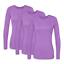 Sivvan 3 Pack Women's Comfort Long Sleeve T-Shirt Underscrub Tee Mixed Colors