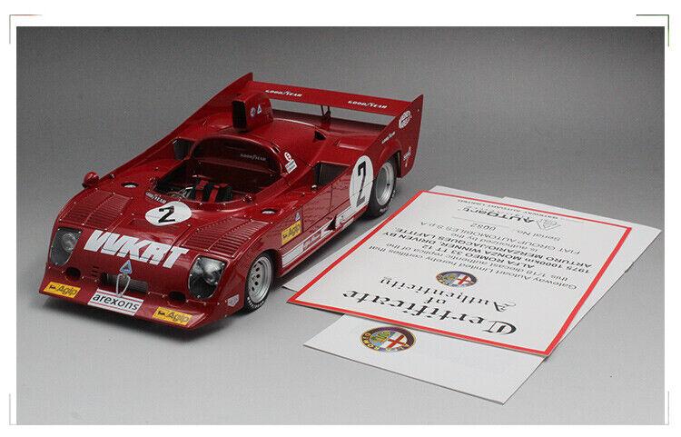 Autoart 1 18 Alfa Romeo 33 TT 12  2 Monza Winner rosso Die-Cast Model Car
