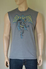 NEW Abercrombie & Fitch Limited Edition Cutoff Tee Grey Batman T-Shirt XL