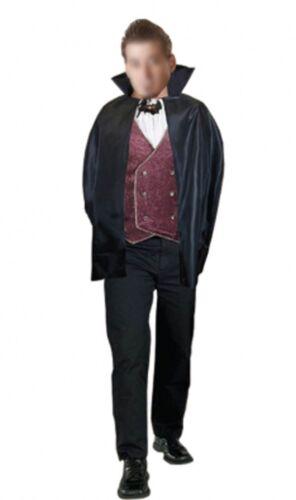 New Adult Mens Halloween Carded Cape Cloak Vampire Dracula Fancy Dress Costume