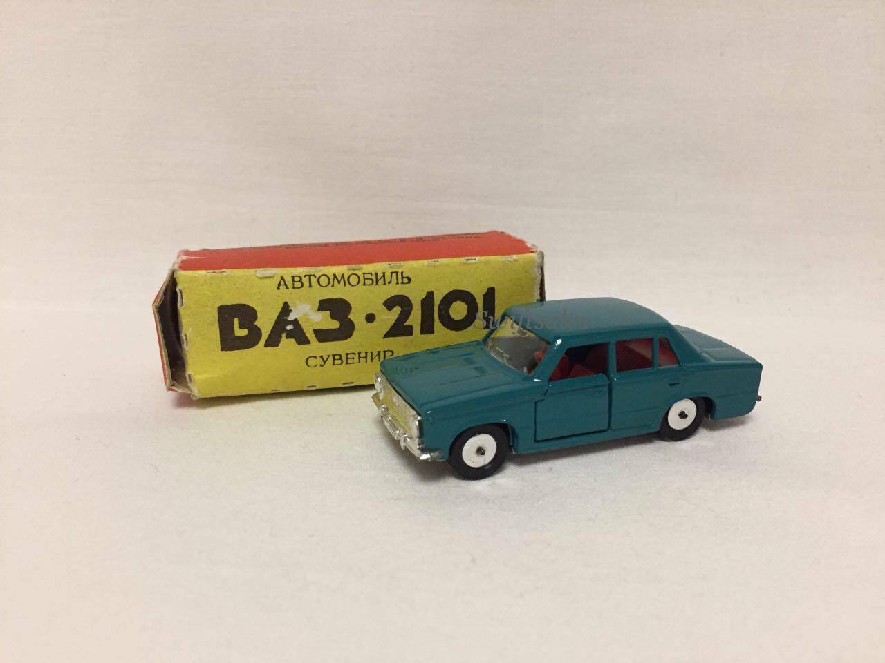Vintage USSR Soviet Model VAZ 2101 Diecast Diecast Diecast Car Made In Belarus - New In Box fbf111