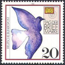 Alemania 1988 Sello Día/paloma mensajera/Aves/Carta/post/mail/animación 1v n29795