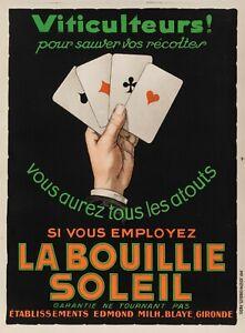 Original-Vintage-Poster-La-Slush-Soleil-engrais-POKER-Jeu-de-carte-1930