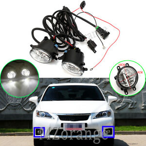 2x-LED-Fog-Light-Lamp-Wiring-Kits-For-Toyota-Aurion-Avalon-Avensis-Camry-Corolla