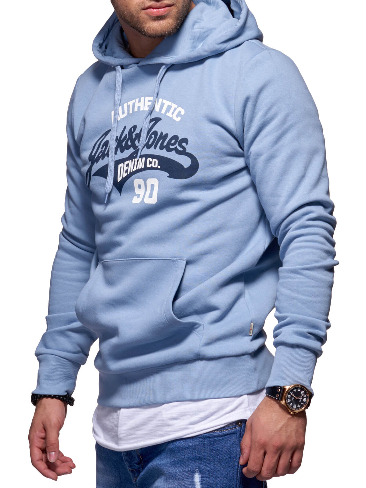 Jack & Hoodie Jones Hommes Hoodie & Capuche Sweat Shirt Top Chemise Manches Longues Pull 9429f2