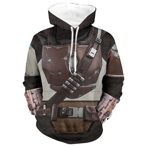 Star Wars The Mandalorian Cosplay Hoodie Jacket Sweatshirt Pullover Xmas Gift