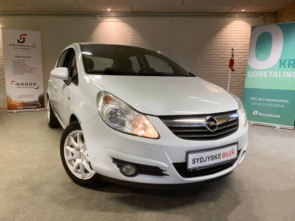Opel Corsa 1,4 16V Cosmo Benzin modelår 2009 km 88000 Hvid