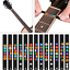 2Pcs-Guitar-Fretboard-Notes-Musical-Scale-Sticker-Musical-Aids-ProfessionalNew thumbnail 1