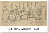 Us Naval Academy 1924 - Vintage Reprint Poster