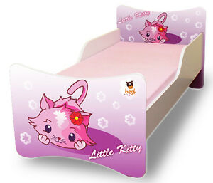 BEST FOR KIDS KINDERBETT BETT JUGENDBETT 8 GRÖßEN CARS KITTY 80x160 ...