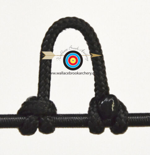 5 Pack Black Archery Release Bow String Nock D Loop Bowstring BCY #24