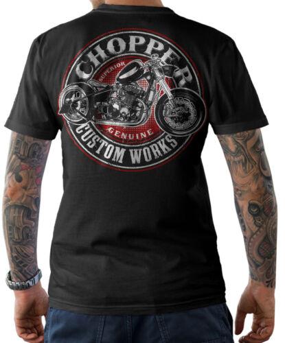 T-SHIRT Biker Oldschool Motorrad Chopper Custom Schrauber Wrench MC Herren S-5XL