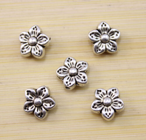 30//60//100 pcs The beautiful Tibet silver plum flower pattern amulet beads 9 mm