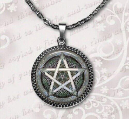 Collar Colgante Pentagrama Wicca oculta Halloween Traje Joyería Amuleto