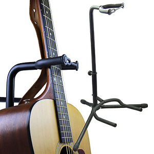 Universal Black Adjustable Tubular Guitar Stand For