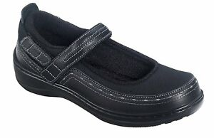 ORTHOFEET Orthotic #877 CHICKASAW MARY JANE Black Women's Comfort Shoes Sz 8.5 M