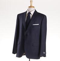 $3295 Belvest Dark Blue Subtle-patterned Wool Suit 48 S (eu 58c)