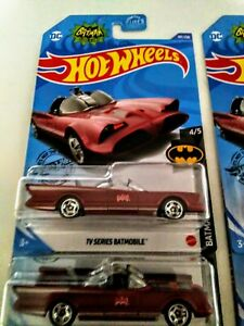 Hot Wheels 2020 Kroger Exclusive Maroon TV Series Batmobile  New VHTF
