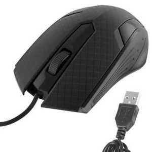 kabelgebunden Maus 1200 DPI 3 Tasten USB für Windows PC Computer Laptop Schwarz