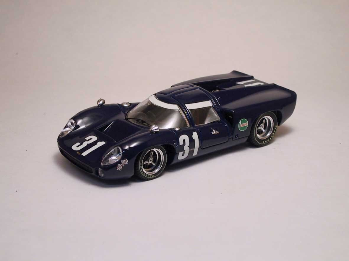 Lola T 70 série Coupe'  31 10th 1000 HM Spa 1968 Epstein Liddell 1.43 MODEL
