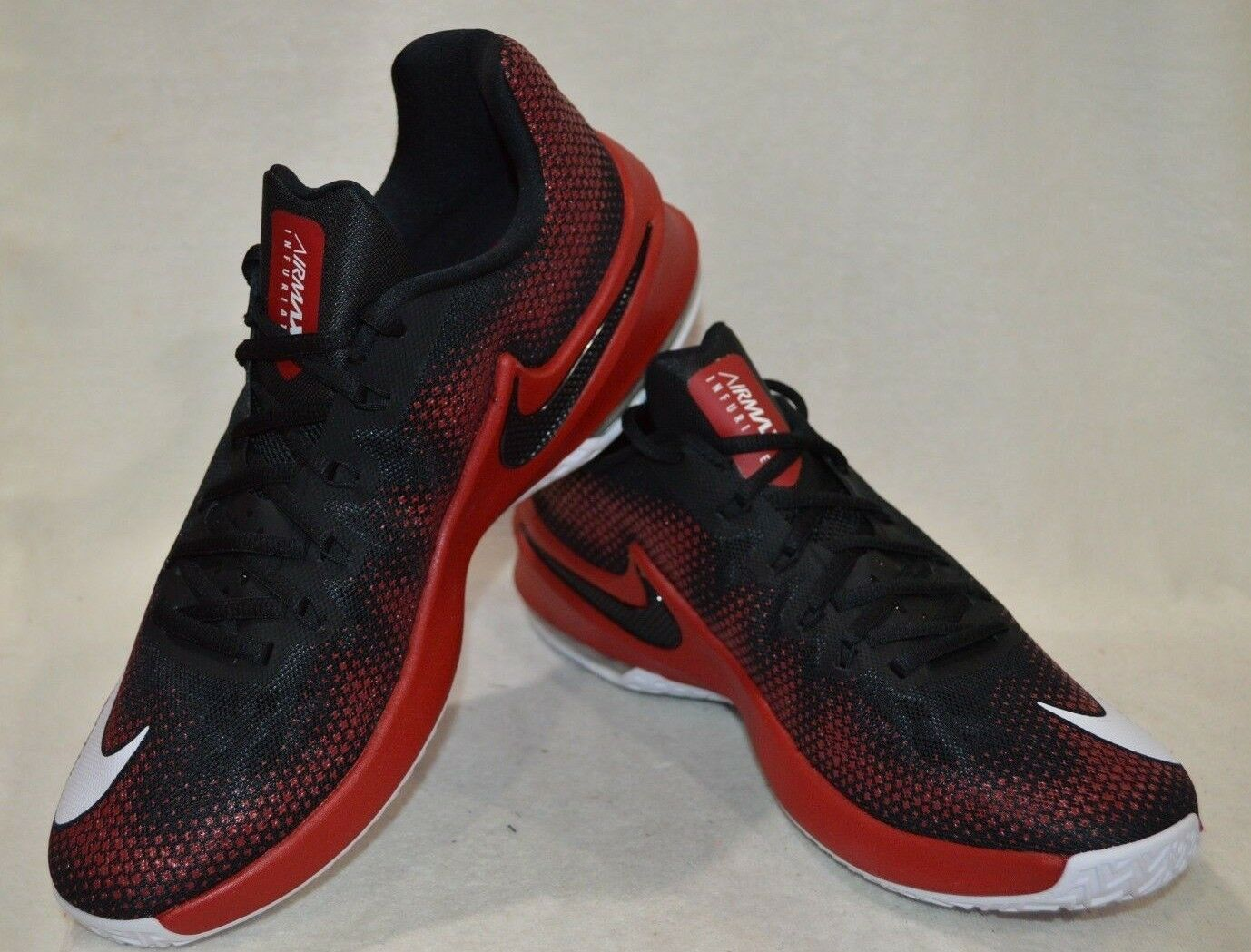 Max Infuriate bajo Nike Air Negro blancoo Rojo para Hombres Zapatos De Baloncesto-Tamaño Asst Nueva con caja