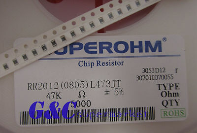500PCS Resistor 47k Ohm  0805 SMD RoHS NEW GOOD QUALITY