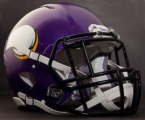 11810a353fa968 Image is loading CUSTOM-MINNESOTA-VIKINGS-NFL-Riddell-Speed-AUTHENTIC- Football-