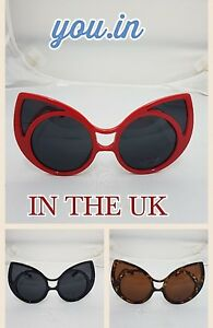 d8f923baa2 VTG 50s 60s Style Cat Eye Office Retro Rockabilly Punk Glasses ...