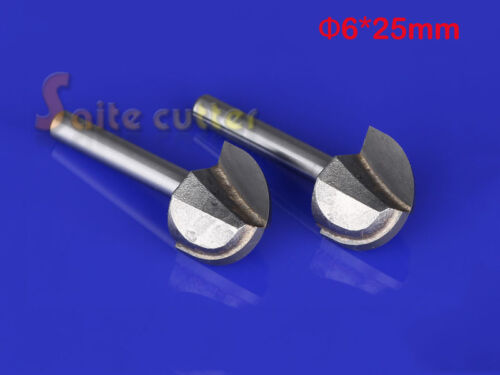 6mm*25mm Round bottom CNC Tools PVC MDF Acrylic woodworking insert router Bits