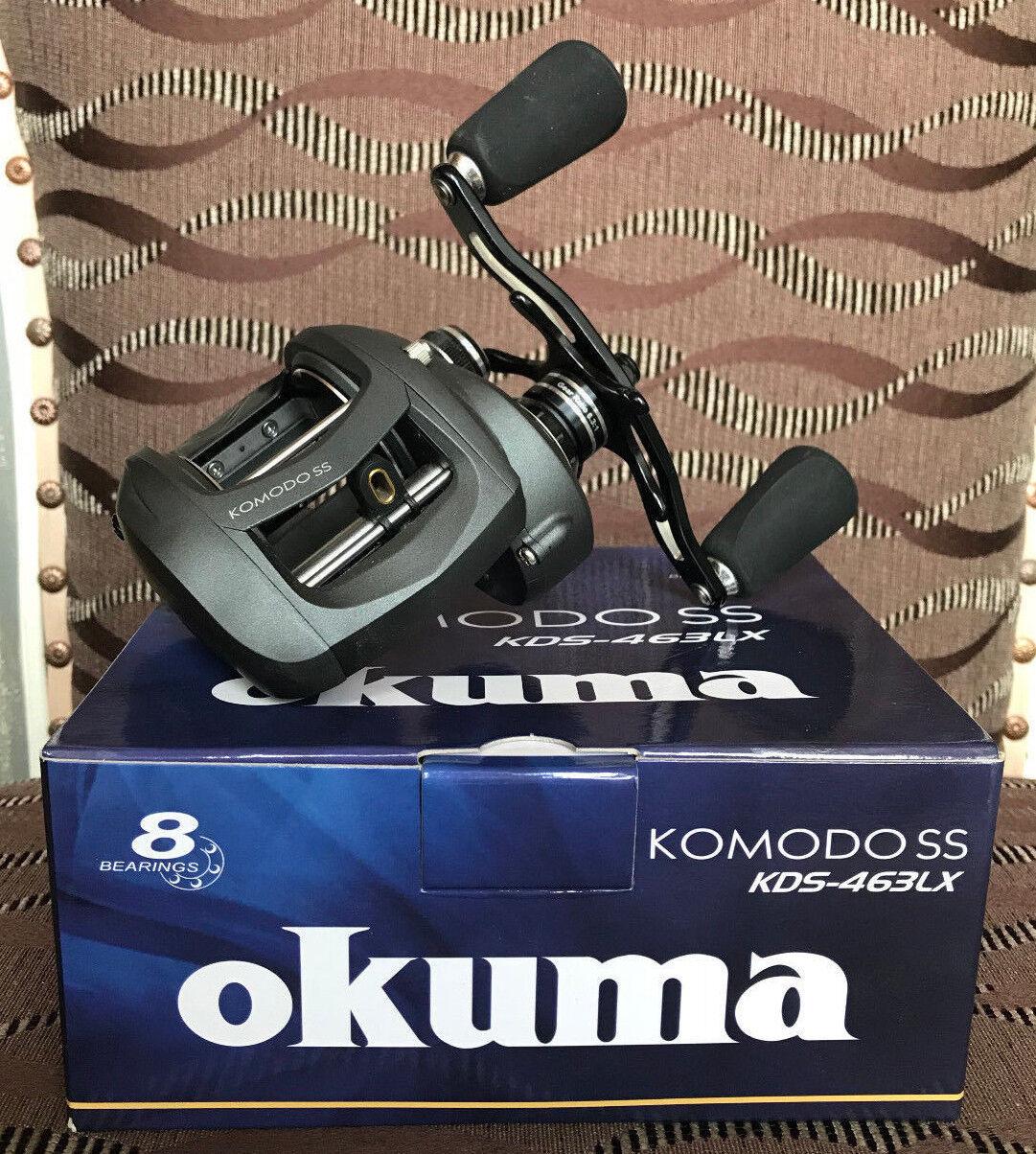 Okuma Okuma Okuma Komodo SS KDS-463LX Linkshand Baitcastrolle 0fba77