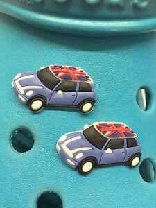 2 Union Jack Mini encantos del zapato Para Crocs Y Jibbitz Pulseras. Uk libre de envío