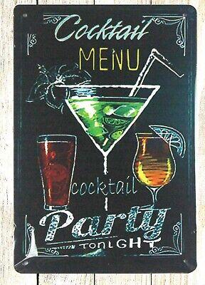 Cocktails et rêves Effet Brique Barre SIGNE A4 Plaque métal pubs et clubs