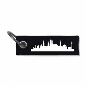 Samunshi Schlüsselanhänger München Skyline  5 Farben 10x3cm