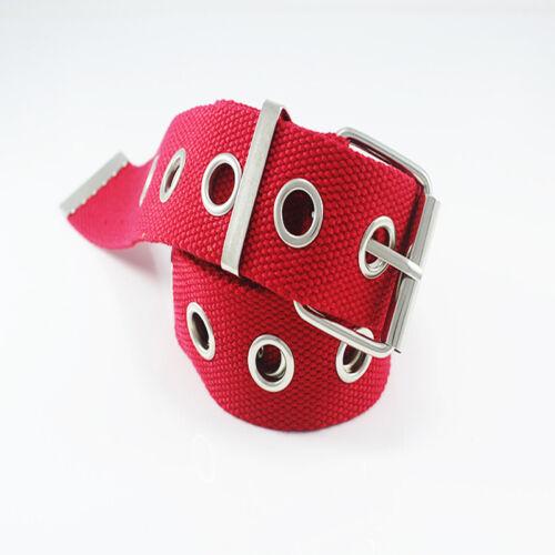 Fashion Women Men Hollow Belt Nylon Canvas Waistband Casual Jeans Waist belts