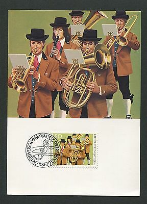 Maxi Cards Bright Liechtenstein Mk Trachten Kapelle Costumes Maximumkarte Maximum Card Mc Cm D3381 Non-Ironing