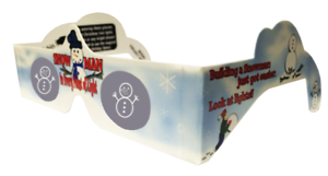 Pupazzo di neve INCREDIBILE immagini OLOGRAFICHE MAGICO Natale Occhiali