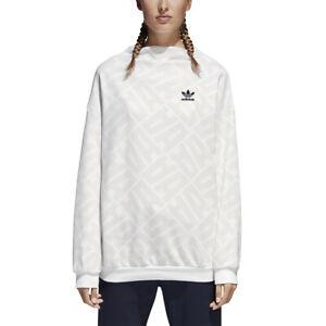 hot new products detailed look discount Details about Adidas Women's Originals St.Petersburg AOP Sweatshirts Chalk  White bq8003